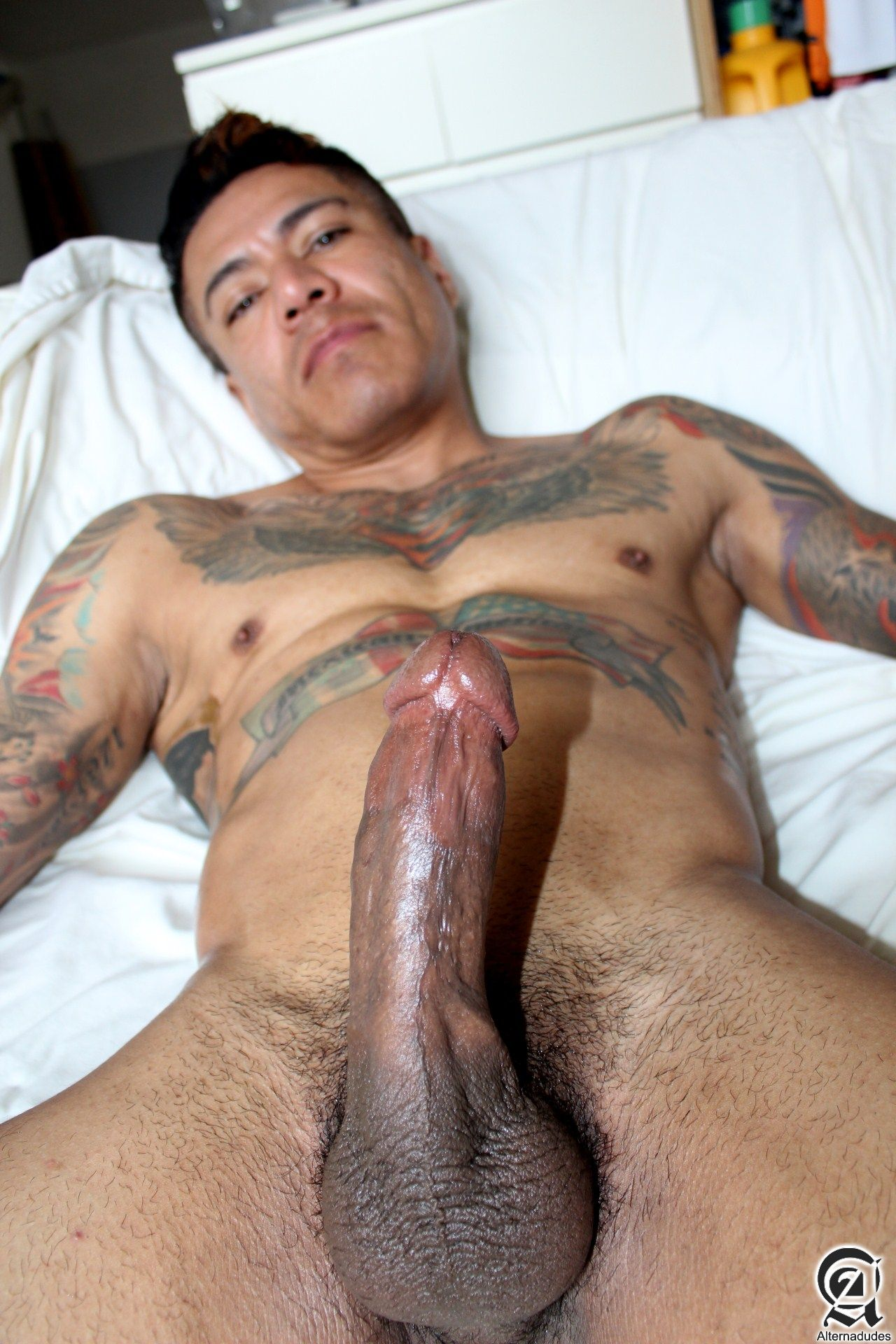 cock gay large latino