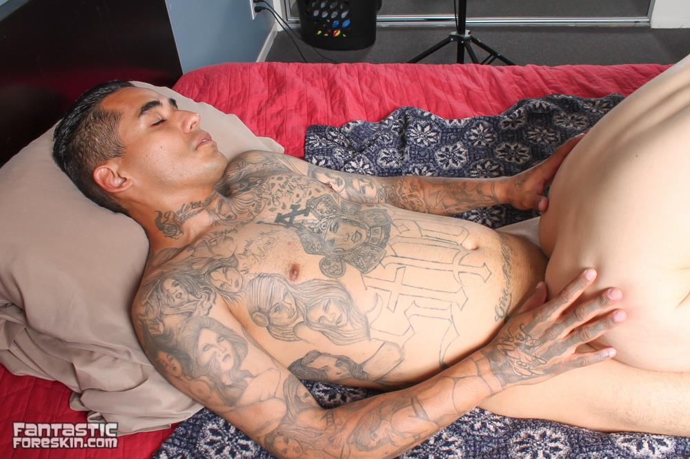 Fantastic-Foreskin-Drew-DAgosto-and-Little-Ray-Big-Uncut-Cock-Straight-Thug-Latinos-Fucking-Amateur-Gay-Porn-14 Straight Uncut Latino Thug Fucks His Younger Buddy With His Big Uncut Cock