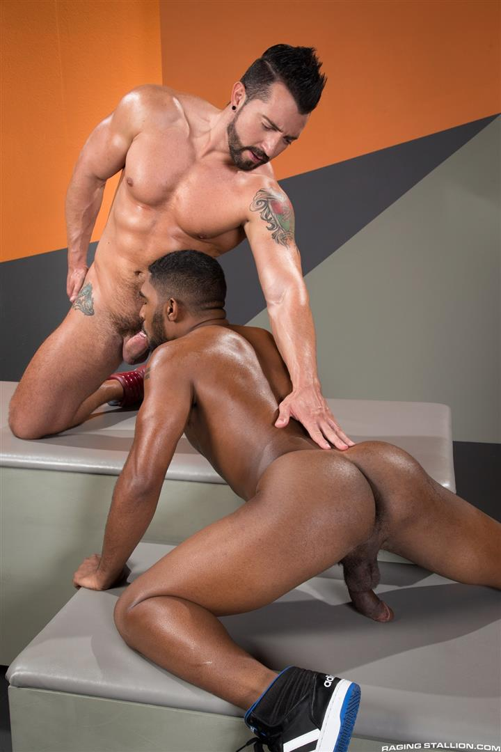Raging-Stallion-Jimmy-Durano-and-XL-Interracial-Gay-Sex-Video-Free-09 Jimmy Durano Fucks XL's Black Ass With His Big Fat Cock