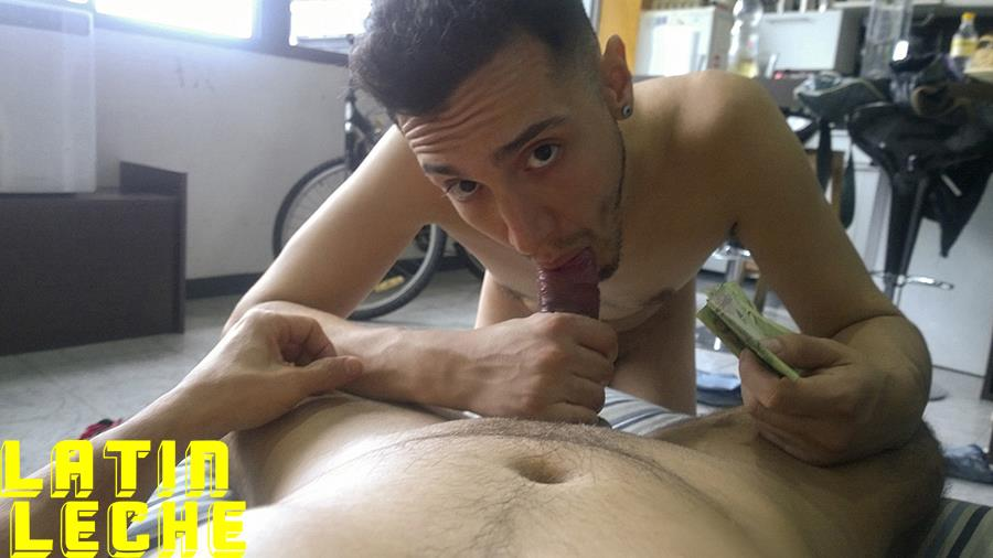 Latin-Leche-Straight-Latino-Big-Uncut-Cock-First-Time-Gay-Bareback-Sex-19 Big Uncut Dick Straight Latino Becomes A Gay Cum Dump For Money
